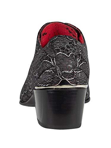 pelle Monki Jeffery nero Man West scarpe in IaPx4wP