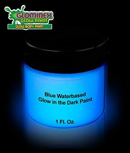 Glominex Glow AD386 in the Dark Body Paint 1oz Jar - (Glow In The Dark Body Art)