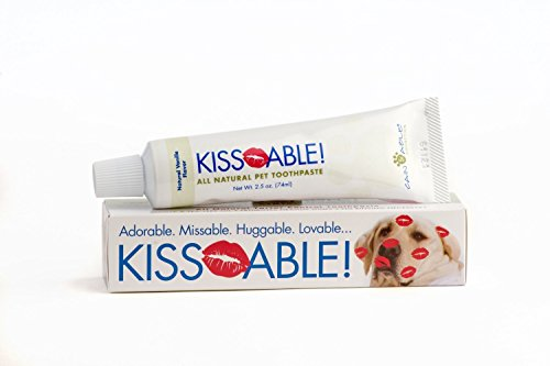 Kissable All-Natural Toothpaste for Dogs | Made in USA | Best Dog Toothpaste for All Dogs With Tartar Build up, Large Dogs