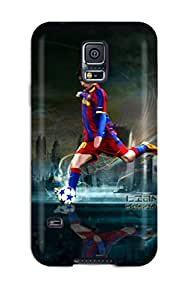 For Galaxy S5 Tpu Phone Case Cover(lionel Messi Desktop)