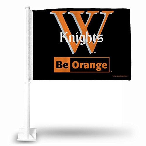 NCAA Wartburg Knights Car Flag, Black, with White Pole
