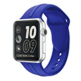Apple Watch Band Silicone 38mm - Sundo Replacement Wrist Strap Bracelet Band for Apple Watch Iwatch Nike+ Sport Edition Series 3 Series 2 Series 1(Royal Blue 38 SM)