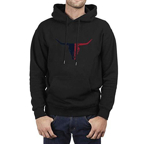 Texas Longhorns Logo Pattern Design Hooded Sweatshirt Classic Classic Men