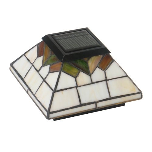 Stained Glass Wellington Solar Post Cap – Size 5×5/4×4/3.5×3.5