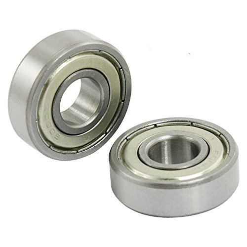 Rannb 10pcs Single Row Double Shielded 6000Z Deep Groove Ball Bearing Open Greased Miniature Bearings Roller Skates 26x10x8mm(OD;Inner Dia;T) ()
