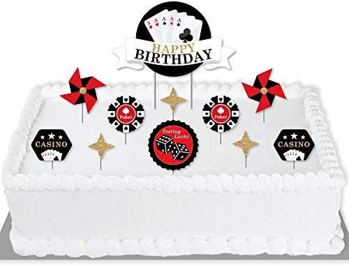 Tremendous Big Dot Of Happiness Las Vegas Casino Birthday Party Cake Personalised Birthday Cards Arneslily Jamesorg