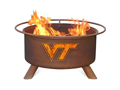 Virginia Tech VT Hokies Portable Steel Fire Pit Grill -