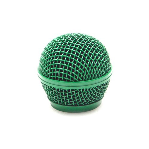 Seismic Audio SA-M30Grille-Green Replacement Green Steel Mesh Microphone Grill Head for Shure SM58, Shure SV100