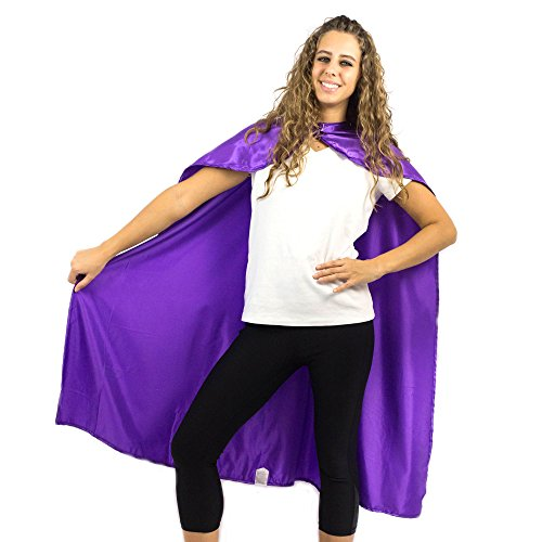 Everfan Women's Polyester Satin Superhero Cape 38