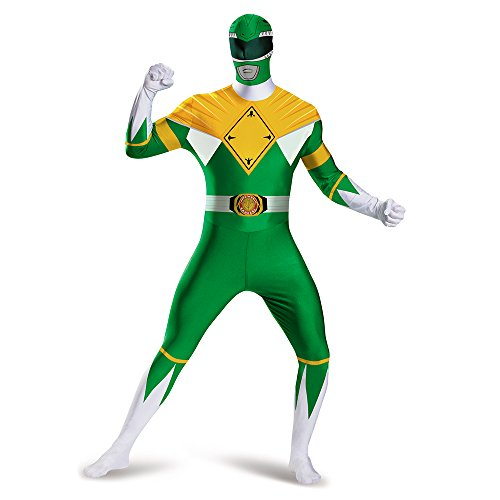 [Disguise Men's Green Ranger Bodysuit Costume, Green, XX-Large] (Body Central Halloween Costumes)