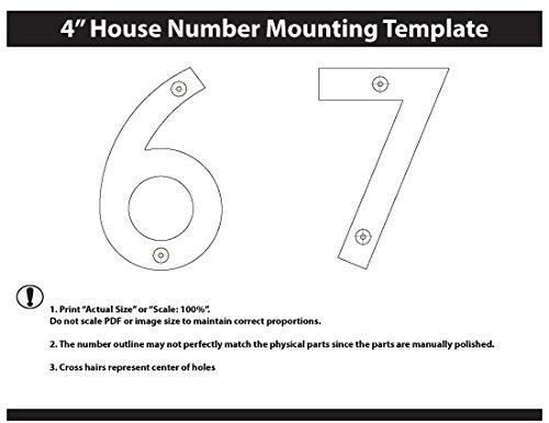 Arquitectura buzones 3582sn número 6 sólido latón fundido, 4 ...