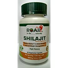 HIGH POTENCY SHILAJIT 1200mg per dose (600mg Fulvic Acid - 50% Extract) for Libido, Weight Management, and increased Vigor and Vitality