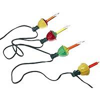 Juego de burbujas de colores claros Vickerman 7 Light Mu con cable verde de 20 pulgadas, espaciador en el extremo del conector UL