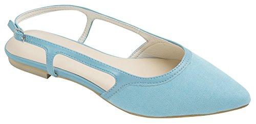 Chaussures Talon Faux Daim Faux Daim Chaussures Plates Bleu Clair
