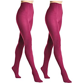 Angelina Brushed Interior Thermal Tights (2 Berry)