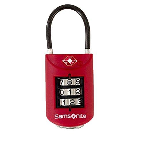Luggage Lock Samsonite (Samsonite Luggage Large Dial Travel Sentry Combo Lock,Red Pepper,Small)