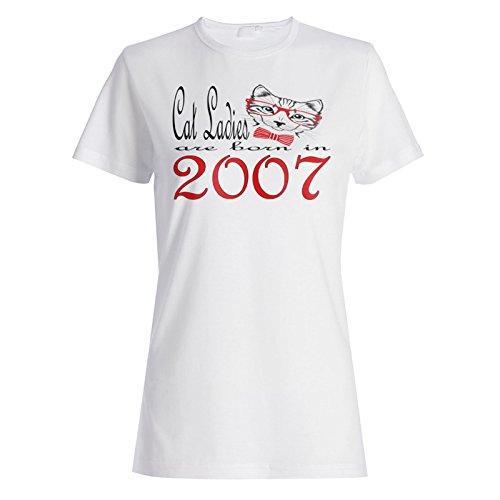 Katzen-Damen sind im Jahr 2007 geboren Damen T-shirt b844f