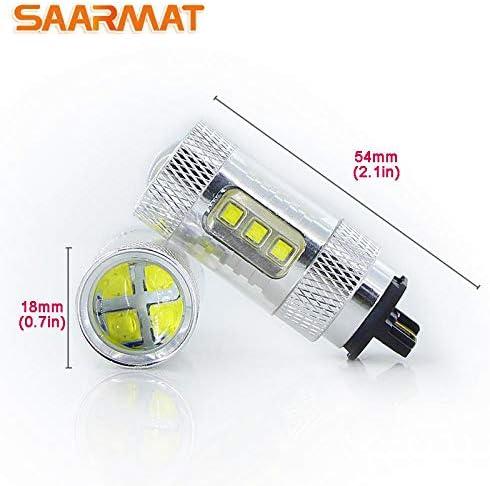 Bombillas LED para Luces de se/ñal de Giro o de circulaci/ón Diurna YaaGoo PW24W PWY24W Color Blanco y Amarillo