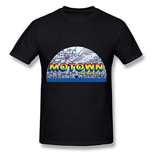 T Shirt For Men Motown The Musical Tour 2016 Black