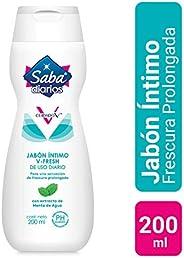 Saba Jabón Íntimo V-Fresh; Extracto de Menta de Agua para una Sensación de Frescura; 200 ml