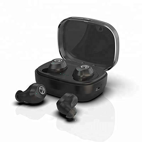 HASIFASI Wireless Earbuds Bluetooth Headphones Wireless Earphones with EQ Presets Bluetooth 5.0 Waterproof 6D Stereo Hi-Fi Sound Auto Pairing and 1600mAH charging case Bluetooth Headset Black