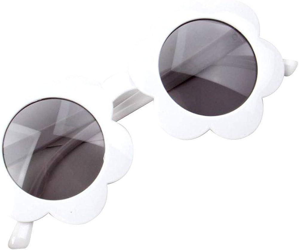 Bunte S/ü/ße Brille f/ür Party Fotografie Outdoor Strand Kinder Geschenke Kleinkind M/ädchen Vintage Blume Runde Anti-UV-Sonnenbrille