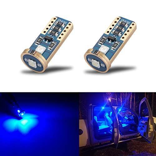 iBrightstar Wedge T10 168 194 LED Bulbs For Car Interior Dome Map Door Courtesy License Plate Lights, Blue (1997 Lincoln Continental Parts)