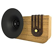 Retro Wooden Speaker Handmade by Nuvitron - Model Edison, The Vintage Looking Bookshelf Speaker with an Internal Acoustic Soundwave Chamber for a Natural and enhanced Sound - Bluetooth