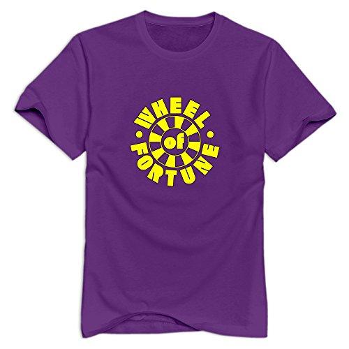 Nolysg Wheel Of Fortune T-shirt For Men - XXL Purple Fun O-Neck Tshirt