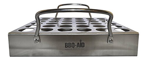 (BBQ-Aid Jalapeno Grill Rack with Handles - Easy to Pick Up - Grilling Roaster, Great Taste - For Your Barbecue or Oven, Works Well with other Peppers and Chicken Wrings or Legs)