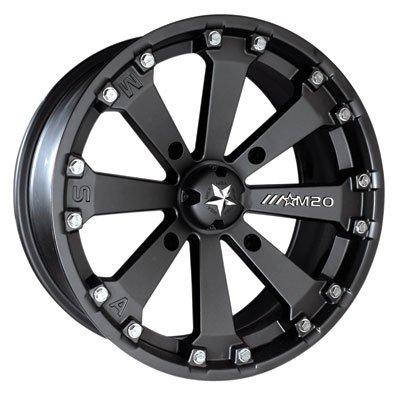 4/110 Motosport Alloys M20 Kore Wheel 14x7 3.5 + 3.5 Flat Black for Yamaha Wolverine X4 2018