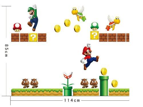 1 X Xxxl Super Mario Mario Lichterschalter Umsonst Wandtattoo