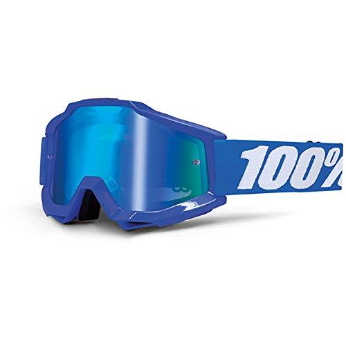 Masque Vtt 100% Accuri Reflex Blue - Ecran Miroir Bleu Bleu