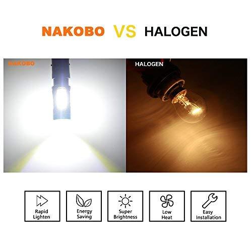 NAKOBO [2 peices] P21W Super Bright Turn Signal Light BA15S 1156 COB Car LED Bulb Tail Light Back Up Reverse Rv lights