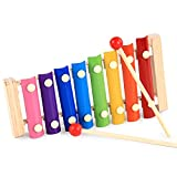 Musical Toys 8-Tone Wood Hand Knock Piano Guoqin Octave Early Education Instruments Music Toys Halloween Christmas Gift for Kids,Toddlers,Multifunctional and Bright Colours by Miya
