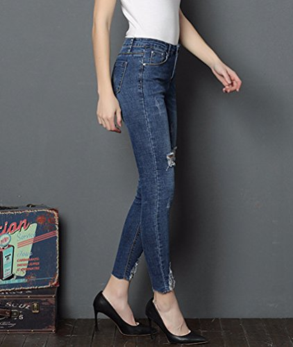 Stretch Fit Pantalons Crayon Vintage Skinny Sentao Pants Bleu Jeans Femme Pantalons Pantalon Jeggings Denim 2 Slim Denim 8Yf4UqS4w