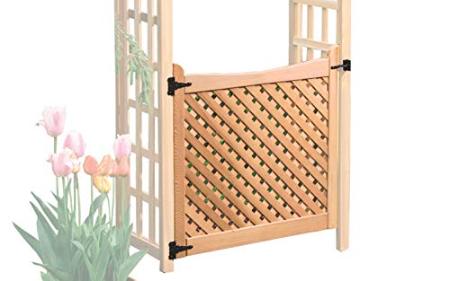 Arboria Arbor Gate Cedar Wood With Lattice and Designer Hinges