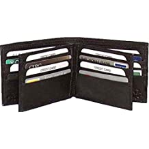 Genuine Lambskin Leather Men's Wallet BLACK 21 Cards #4291