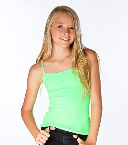 Malibu Sugar Girls (7-10) Full Cami One Size Neon Green -