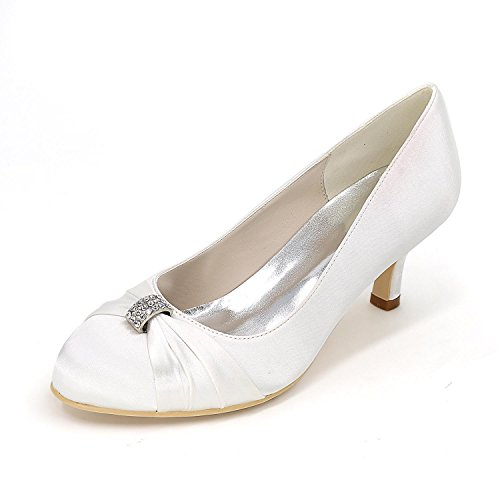 YC Party Color Women'S Color High L White Heels With Code Wedding Satin Comfortable Shoes Multi Fine Wedding d7FCwqv