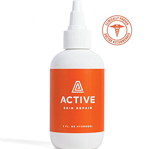 Active Skin Repair Hydrogel – Natural Antibacterial Healing Ointment & Wound Gel for cuts, scrapes, rashes, sunburns and Other Skin irritations (3oz) ()