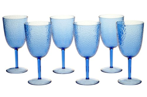 nal All Purpose Acrylic Goblet, 16-Ounce, Cobalt Blue, Set of 6 (Blue All Purpose Goblet)