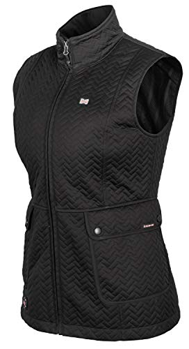 Mobile Warming Women's Cascade Bluetooth Battery Heated Insulated Vest (7.4V), Black, X-Large