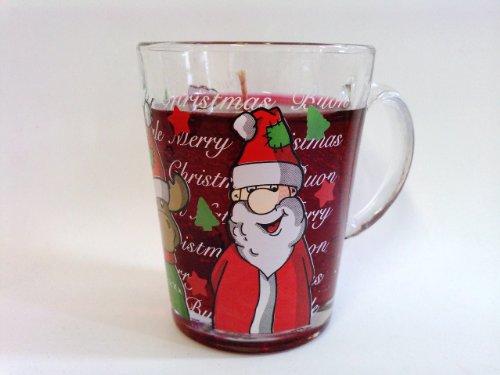 Glühwein Gelkerze im Glühweinglas Weihnachtsglühweinglas