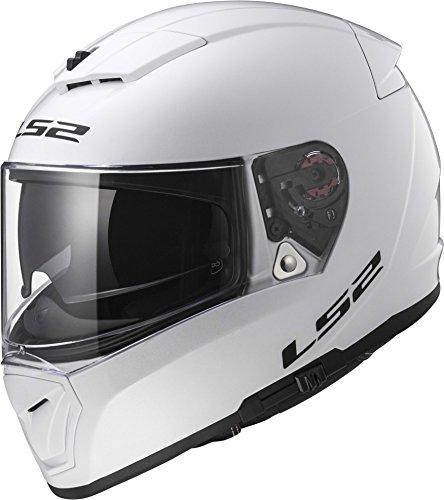 Lightest Full Face Helmet - LS2 Helmets Unisex-Adult Full Face Helmet (Gloss White, Small) (Breaker)