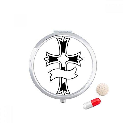 Religion Holy Christianity Culture Design Art Travel Pocket Pill case Medicine Drug Storage Box Dispenser Mirror Gift by DIYthinker