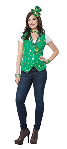 California Costumes Women's Lucky Lady Kit Adult Woman Costume, Green, Large/XLarge