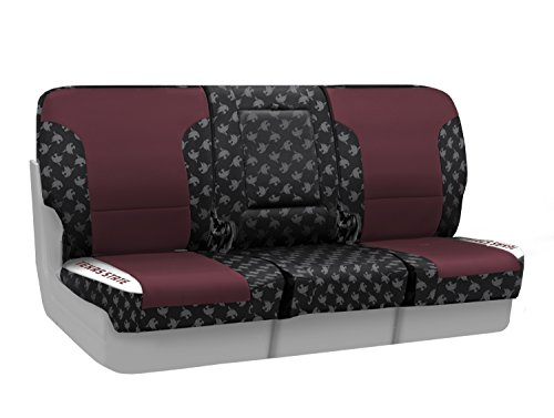 Coverking Custom Fit Front 40/20/40 NCAA Licensed Seat Cover for Select Nissan Titan Models - Neosupreme (Texas State University) by Coverking