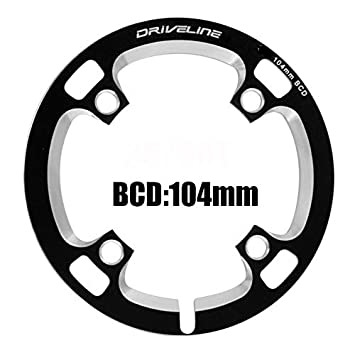Driveline AL7075 Road Bike Bicycle TT Chainring 75T BCD 110//130mm Black