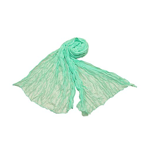 Toaimy Scarves Womens Pashmina Scarf Soft Wrap Shawl Scarf Long Stole Crinkle Candy Colors -